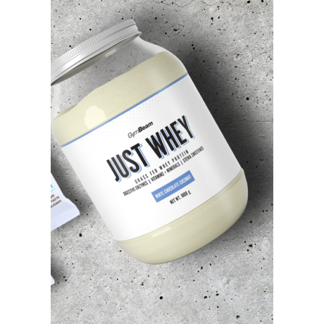 Just Whey fehérje 1000g fehércsokoládé-kókusz - GymBeam
