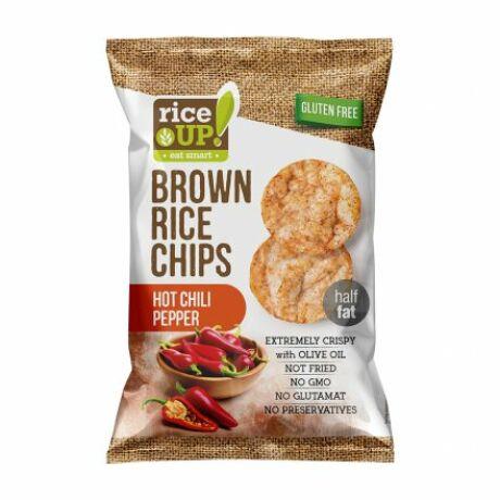 Rice Up Barna Rizs Chips Csípős 60 g