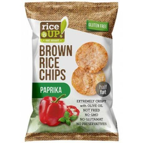 Rice Up Barna Rizs Chips Paprikás 60 g