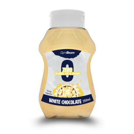 GymBeam Kalóriamentes szirup 350 ml white chocolate